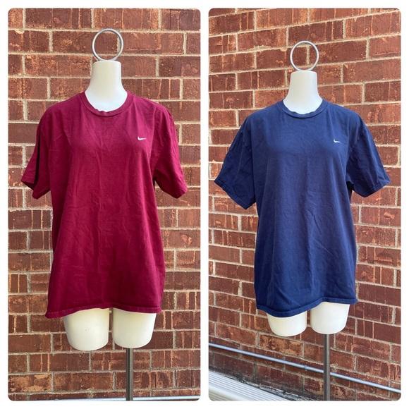 Pair of 2 Nike Men's 100% Cotton Short Sleeve T-Shirts (XL)